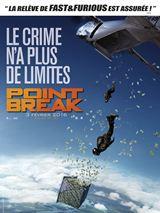 Point Break : Une série de braquages spectaculaires aux quatre coins du monde met en péril l'équilibre des marchés financiers. Les criminels opèrent aussi bien en motos dans des gratte-ciels new yorkais qu'en « wingsuits » pour s'échapper d'avions au-dessus de la jungle.